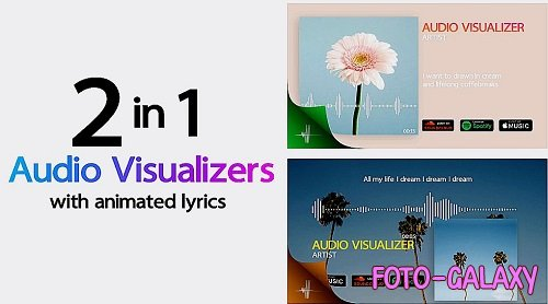 Minimal Audio Visualizer With Lyrics 353471 - After Effects Templates