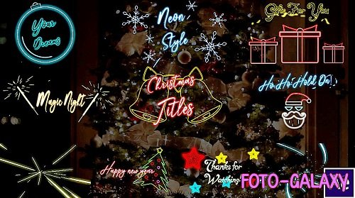 Christmas Neon Titles 338697 - After Effects Templates