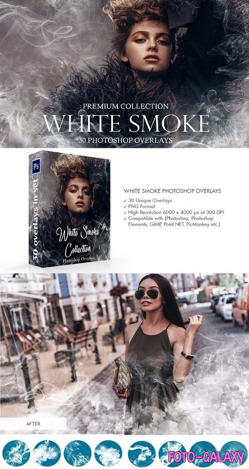 White Smoke Photoshop Overlays - 3973983