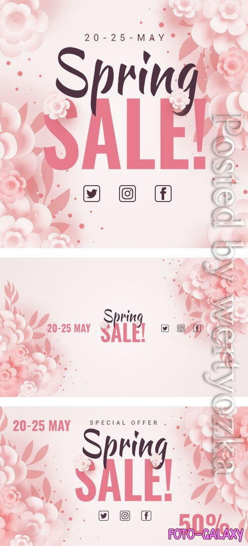Spring Sale - Premium flyer psd template