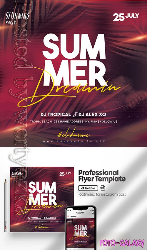 Summer Dreaming Party - Premium flyer psd template