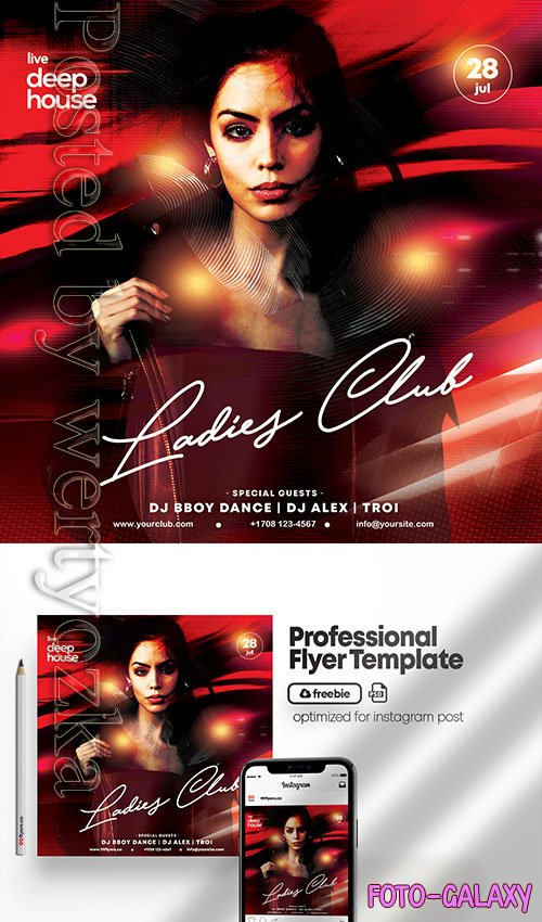 Ladies Club Night Party - Premium flyer psd template
