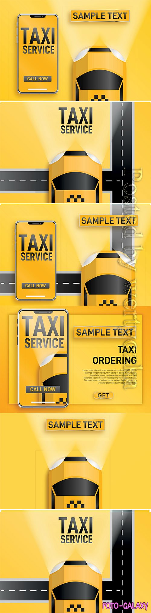 Taxi service online vector illustration