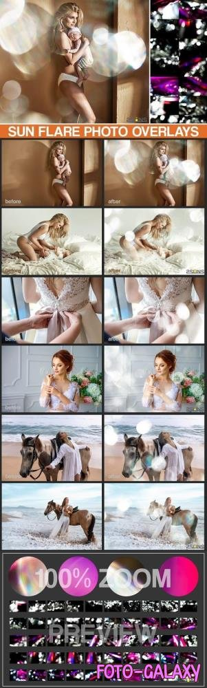 50 Sun flare photo overlays, photoshop overlays, lens effect - 535516