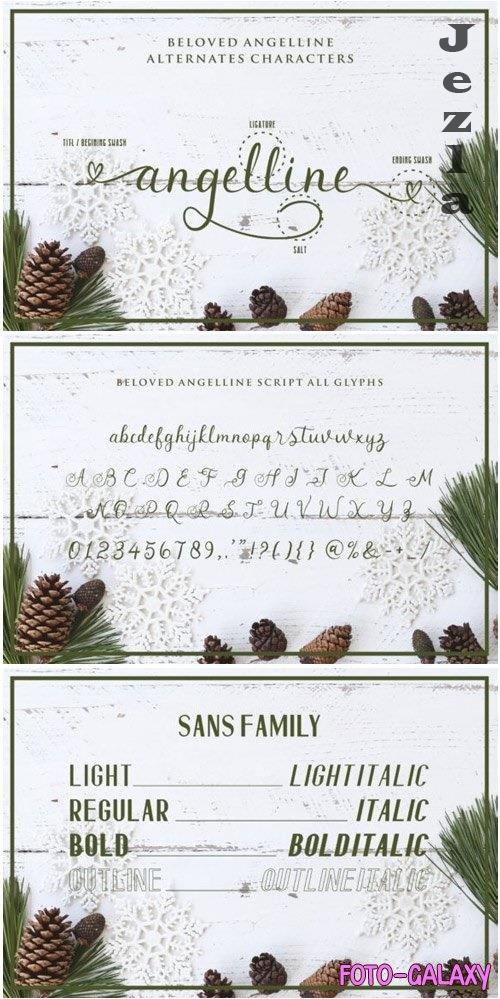 Beloved Angeline Duo Font
