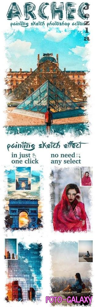 Archec - Painting Sketch Photoshop Action 25624369