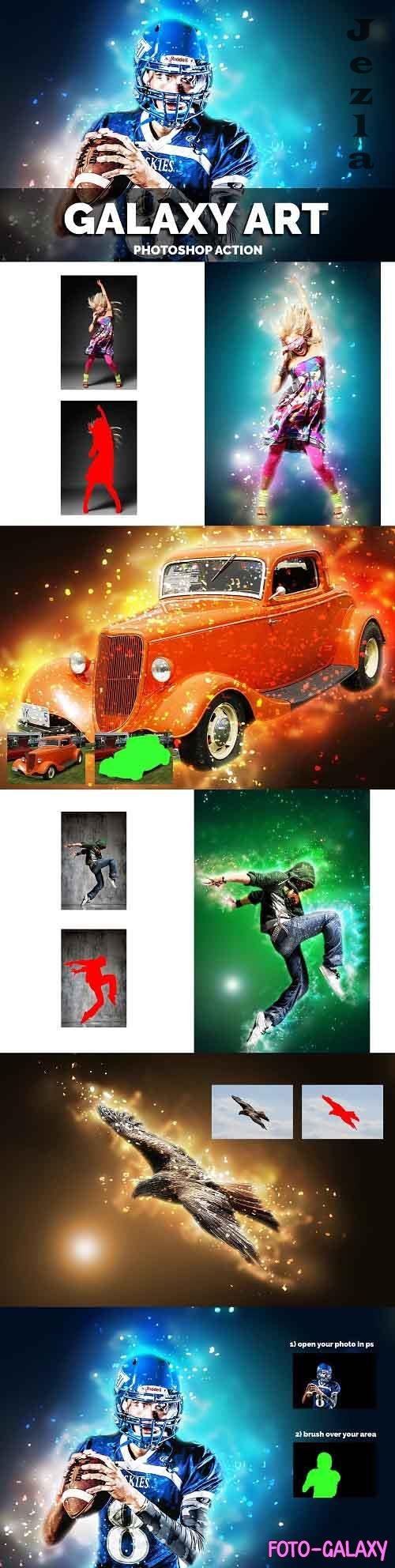 Galaxy Art Photoshop Action - 3762608