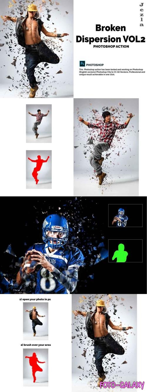 Broken Dispersion Vol2 Photoshop Action