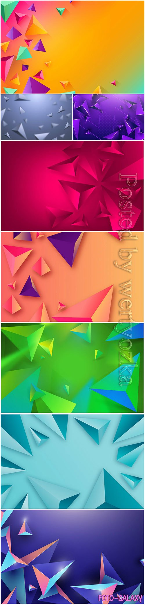 Abstract vector background, 3d models template # 7