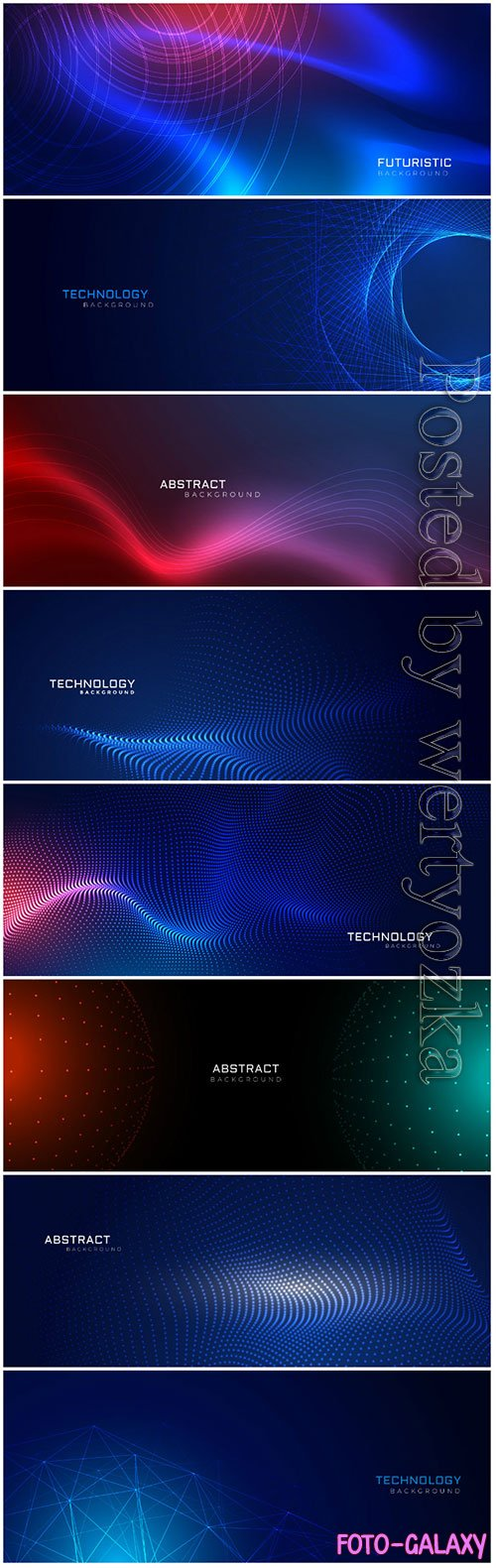 Technology particles dots vector background design
