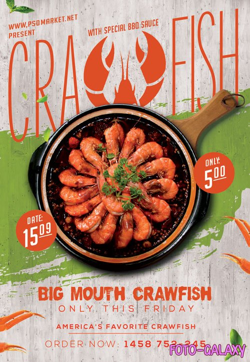 Crawfish day - Premium flyer psd template