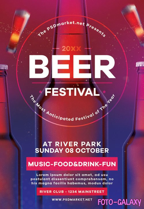 Beer festival - Premium flyer psd template