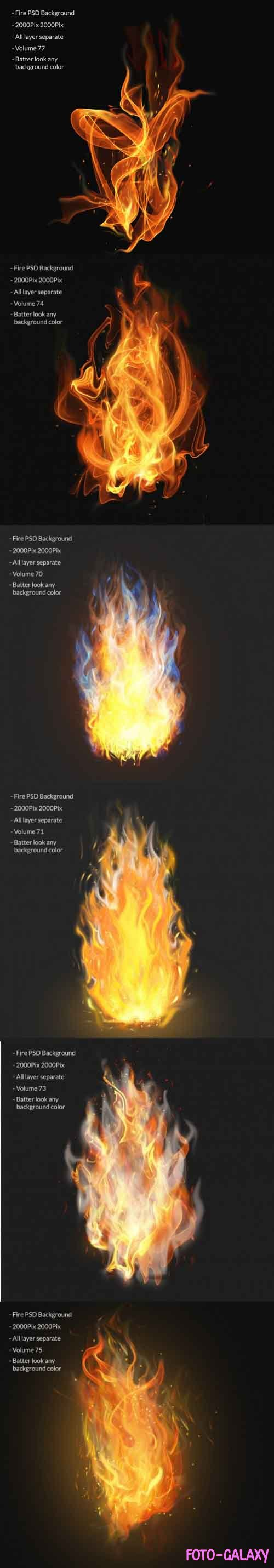 Fire flames effect layer