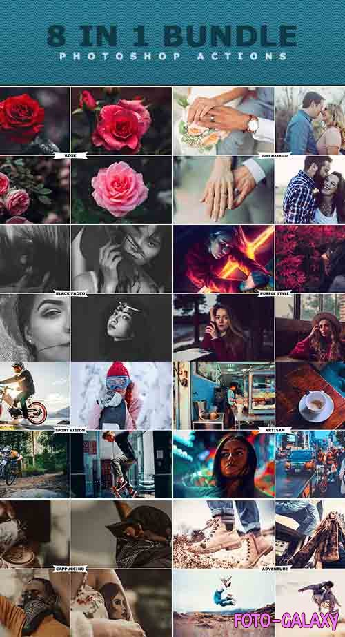 8 IN 1 Photoshop Actions Bundle - 27450364