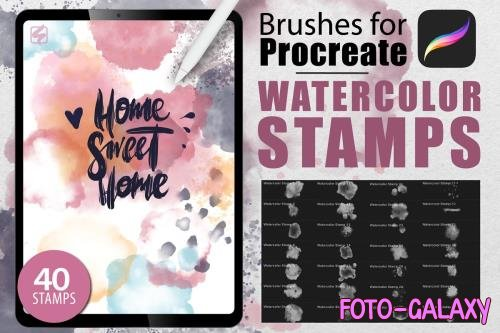 Procreate Watercolor Stamps - 4656936