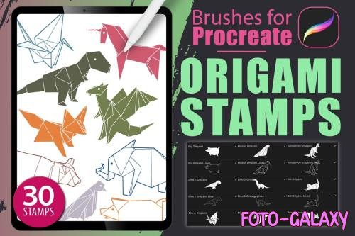 Procreate - Origami Stamps - 4735513