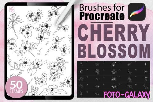 Procreate - Cherry Blossom Stamps - 4881988