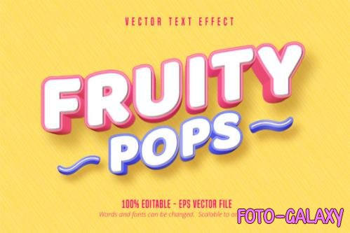 Pastry Style Editable Font Effect