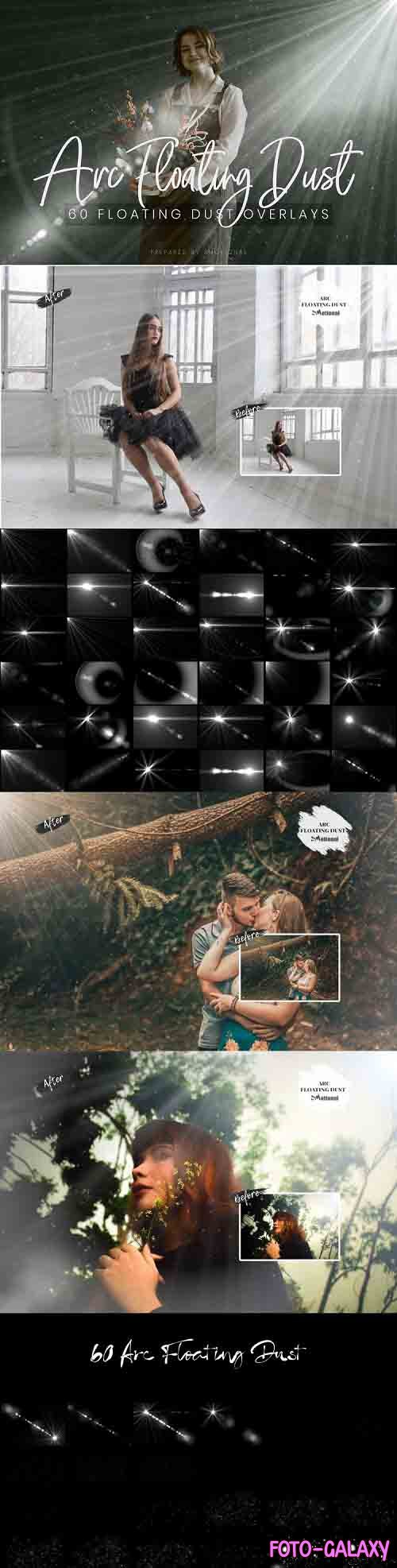 60 ARC Floating Dust Flare Effect Photo Overlays - 774826