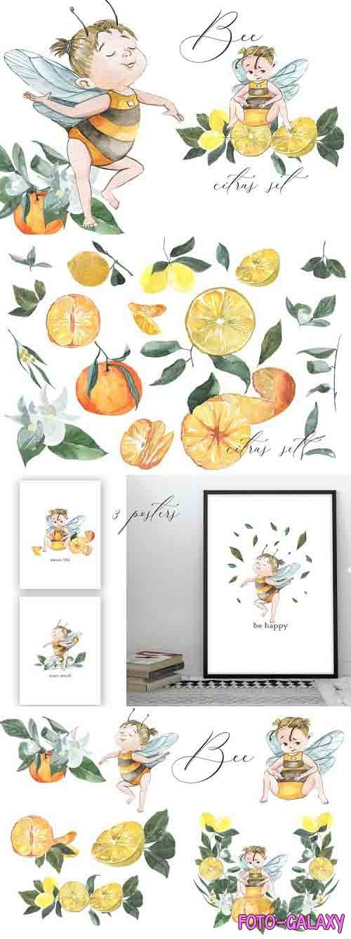 Bee. Citrus set - 804320