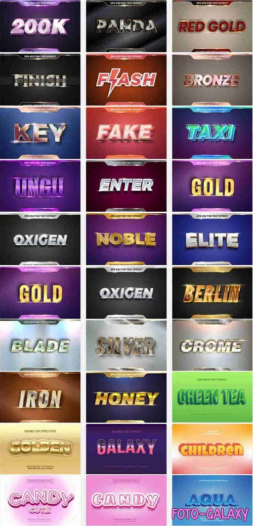 Editable Text Effect Style Bundle 01