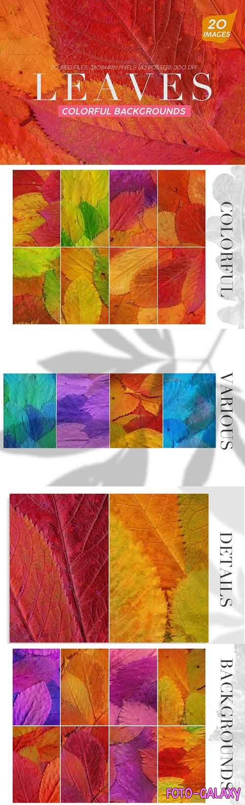 20 Colorful Leaves Backgrounds - 800400