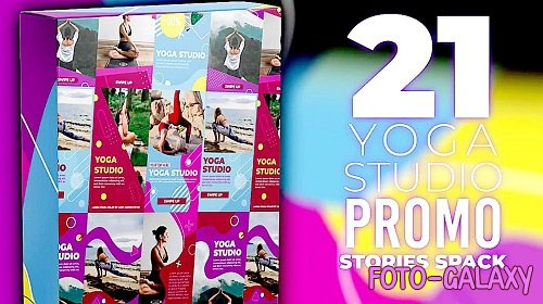 21 Yoga Stories Pack - Project for After Effects