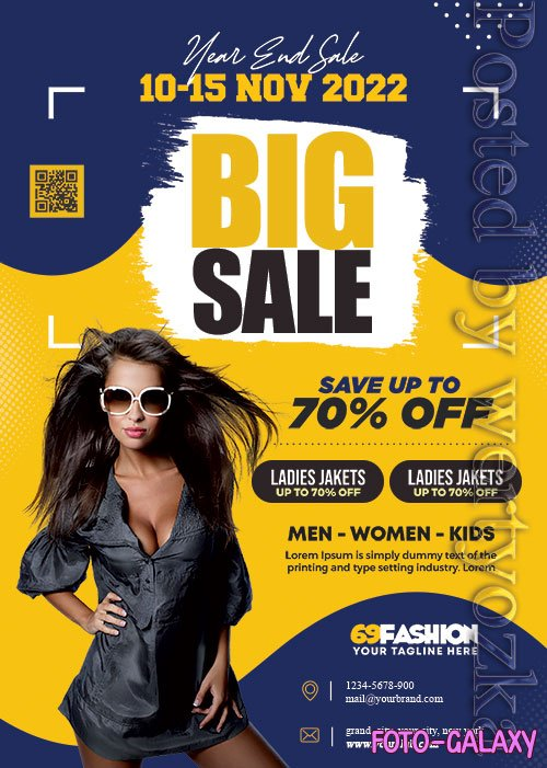 Big Sale Promotion Flyer PSD Template