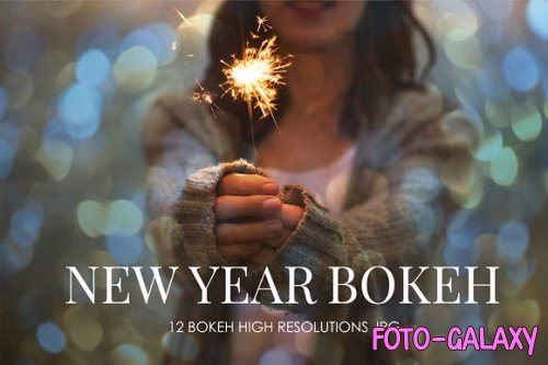 Happy new year Bokeh overlays high resolutions