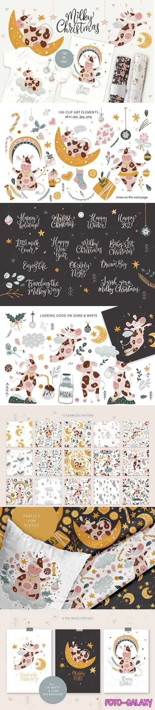 Milky Christmas. Christmas Cow Pack - 5461271