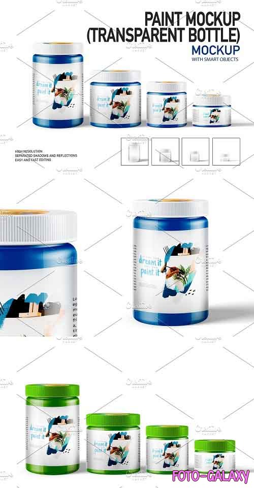 Paint Mockup (TRANSPARENT BOTTLE) 5448319