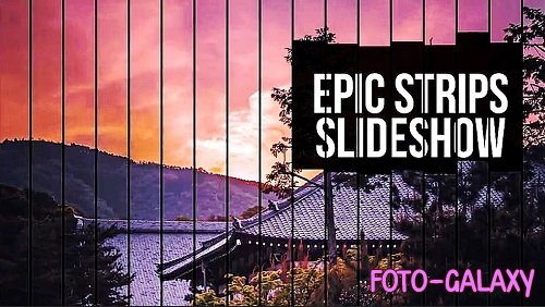 Epic Strips Slideshow 1081 - Project for After Effects
