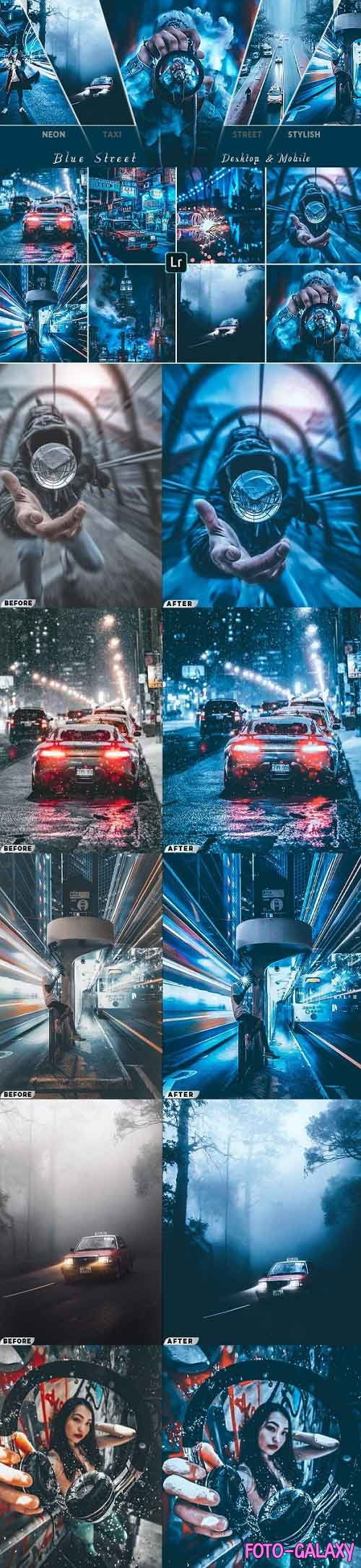 Blue Cinematic Street Presets ( Mobile & Desktop ) - 26900425