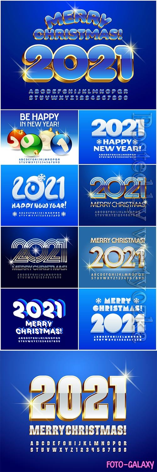 Vector greeting card merry christmas 2021