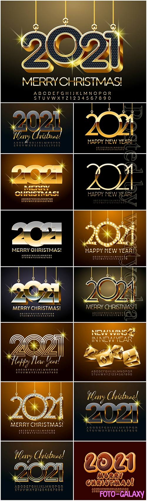 Diamond merry christmas, 2021, alphabet, letters, numbers, shiny, font