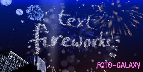 Videohive - Text Fireworks - 307544