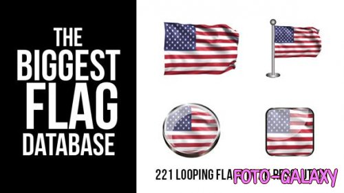 Videohive - 221 Looping World Flags - 9255626