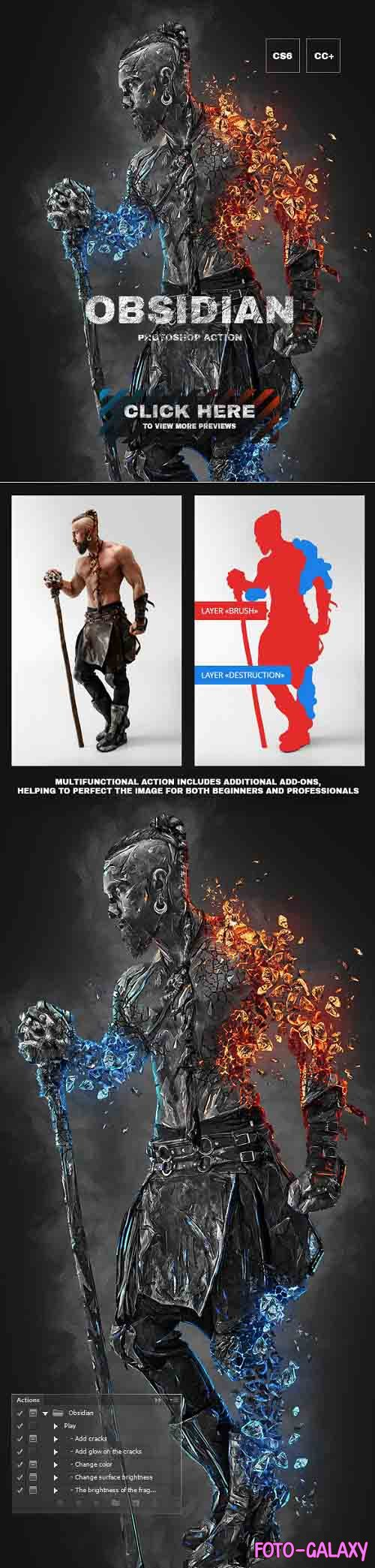 GraphicRiver - Obsidian Photoshop Action 26998428