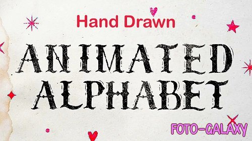 Animated Hand Drawn Alphabet 837311 - Project for After Effects