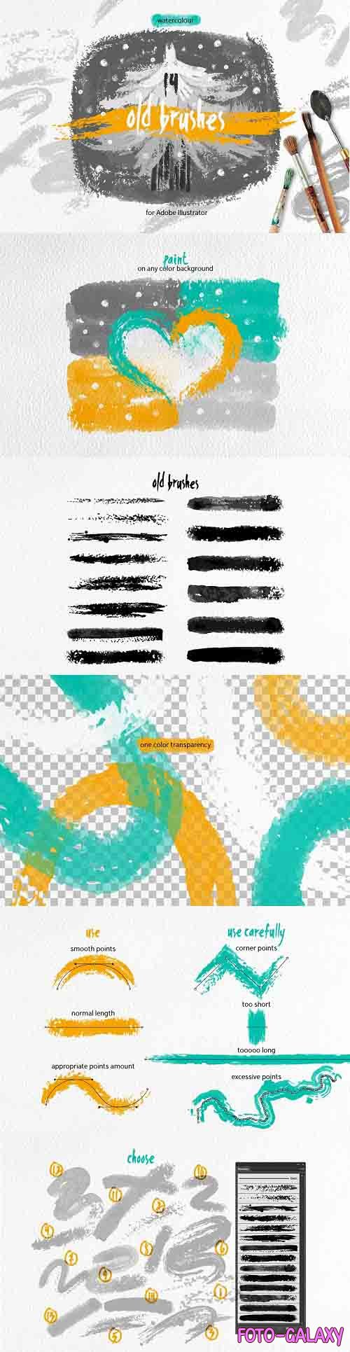 Old Brushes for Illustrator - 3595715