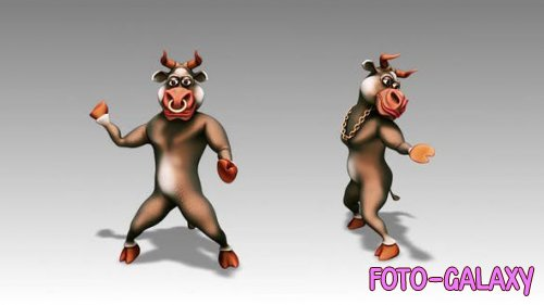 Videohive - Happy Bull - Cartoon Dance 4,10 - Motion Graphics