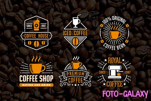 6 Coffee Badges Logo template