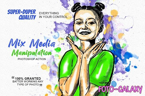 CreativeMarket - Mix Media Manipulation PS Action 5188492