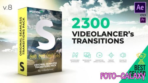 Videohive - Videolancer's Transitions | Original Seamless Transitions Pack V8 - 18967340
