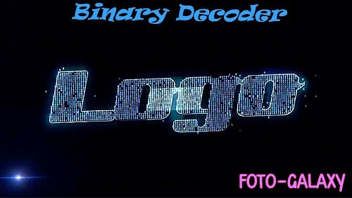 Binary Decoder Logo 357914 - Project for After Effects