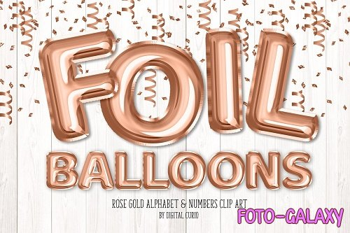 Rose Gold Foil Balloon Alphabet - 5760790