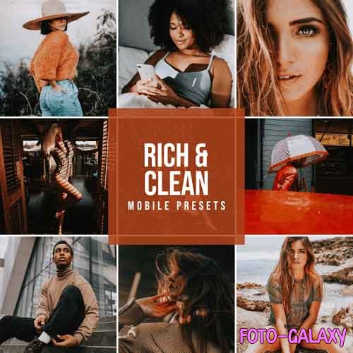 CreativeMarket - Rich & Clean Mobile Lightroom Presets 5712608