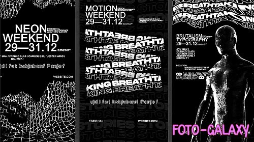 Brutalism Typography Stories 886136 - Project for After Effects