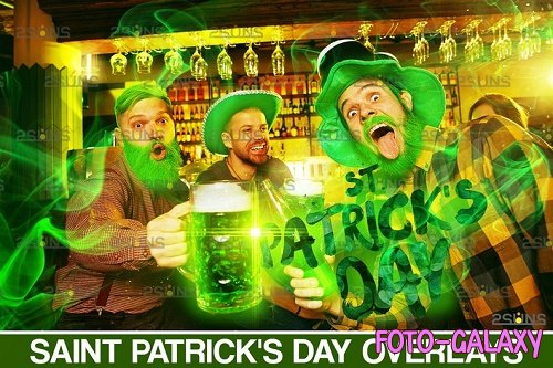 St Patricks day digital background & photoshop overlay V1