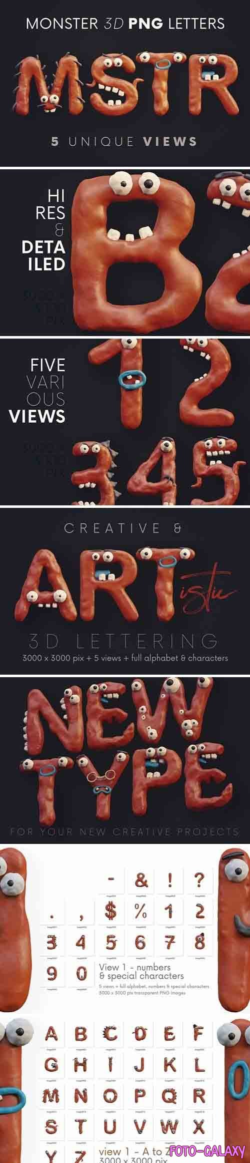 Plasticine Monsters - 3D Lettering - 5879316